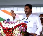 Y. S. Jaganmohan Reddy during 73rd Independence Day celebrations in Andhra Pradesh