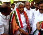 Congress leaders at Indira Bhavan