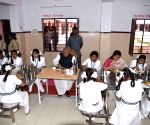 Biswabhusan Harichandan haves meal with students