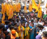 Telangana Assembly elections - TDP's Kukatpally candidate Suhasini during a roadshow