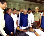 Andhra Governor at a blood donation programme