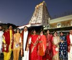 Free Photo: Andhra Pradesh: Vice President prays for universal wellbeing at Tirupati temple