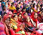 Anganwadi, Asha and Mid Day meal workers demonstration