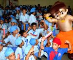 Chhota Bheem during a awareness programme