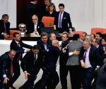 TURKEY ANKARA PARLIAMENT DEBATE FIGHT