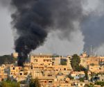 US-led warplanes target Syrian military convoy