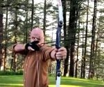 Anupam Kher tries archery for the first time in hometown Shimla