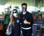 Aparshakti Khurana & His Wife Spotted at Airport Departure