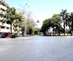 Mumbai: Deserted areas adjoining Mantralaya during Janata Curfew