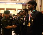 Army felicitates 2018 Asian Games medalists