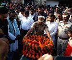 Last rites of Uri martyr Raj Kishore Singh