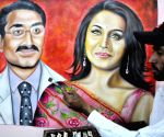 Painting of Rani Mukharjee and Aditya Chopra