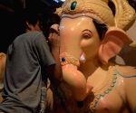 Ganesha idols at Mumbai workshop