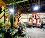 Kolkata :Artists making an Idol of Goddess Durga at Kolkatas chorbagan. Chorbagan Sarbojanin Durgotsav committee will donate Durga idols to Thirteen different clubs and   of small-scale Durga Puja Committee, who are in severe financial distress due to the Covid situation .