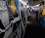 Artists paint Western Railway Stations