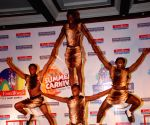 Artists performing at Water Kingdom press meet in Mumbai.