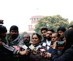 Nirbhaya's parents at Supreme Court after hearing of rape convict's review plea