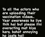 Asha Negi takes a jibe at celebs posing while getting the jab