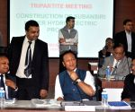 The tripartite meeting regarding the construction of Subansiri Lower Hydroelectric Project