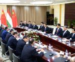 KAZAKHSTAN CHINA XI JINPING RAHMON MEETING