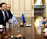 GREECE ATHENS PM EU MOSCOVICI VISIT