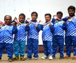 Indian contingent of the World Dwarf Games - press conference