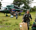 LAOS ATTAPEU CHINESE PLA RELIEF WORK