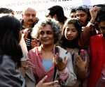 Arundhati Roy joins Jamia students' protest against CAA, NRC, NPR