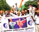 Auto drivers'  demonstration against Pakistan