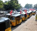 Auto Rakhsaw Drivers Union and AITUC Taken out Rally