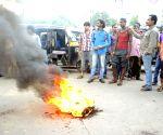 Auto-rickshaw drivers' demonstration