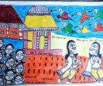 Free Photo: Awareness on COVID-19 through Madhubani paintings