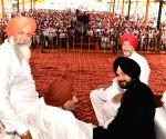 Baba Bakala (Amritsar): Punjab cabinet minister Navjot Singh Sidhu during a programme