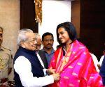 P.V. Sindhu meets Andhra Governor