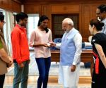PV Sindhu calls on PM Modi