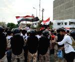 IRAQ BAGHDAD PROTEST CURFEW