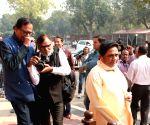 Mayawati at Parliament House