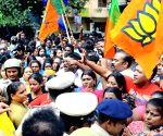 BJP demonstration against rape of minor