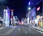 : Bangalore : Brigade Road deserted after the World Cup T20 match between India and Pakistan in Bangalore