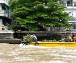 THAILAND BANGKOK CHAO PHRAYA RIVER WATER HYACINTH REMOVAL