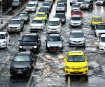 THAILAND BANGKOK DOWNPOUR FLOODING TRAFFIC