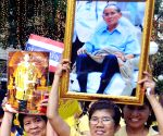 Bangkok (Thailand): Celebration of Thai King's  87th birthday