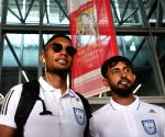 Bangladesh Football team arrives in India
