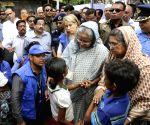 Sheikh Hasina visits Rohingya refugee camp