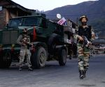 Baramulla : Soldiers in action at 46RR camp
