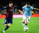 Barcelona (Spain): UEFA Champions League - FC Barcelona vs Manchester City