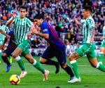 SPAIN-BARCELONA-SOCCER-SPANISH LEAGUE-FC BARCELONA VS REAL BETIS