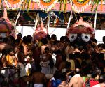 Jagannath Temple - bathing ceremony of Lord Jagannath, Devi Subhadra, and Lord Balabhadra