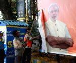 Karnataka election - BBMP workers remove banners
