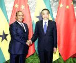 CHINA BEIJING LI KEQIANG SAO TOME AND PRINCIPE PM TALKS